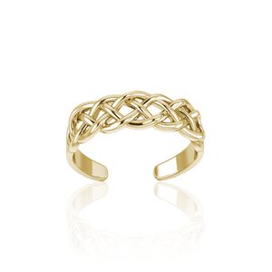 Celtic Knotwork Gold Vermeil Toe Ring VTR605