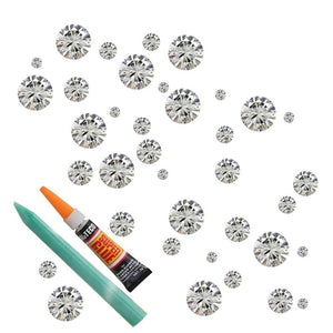 White Clear Crystal Assortment Repair Kit WHGURD