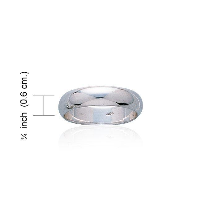 Smooth Sterling Silver Wedding Ring WR076