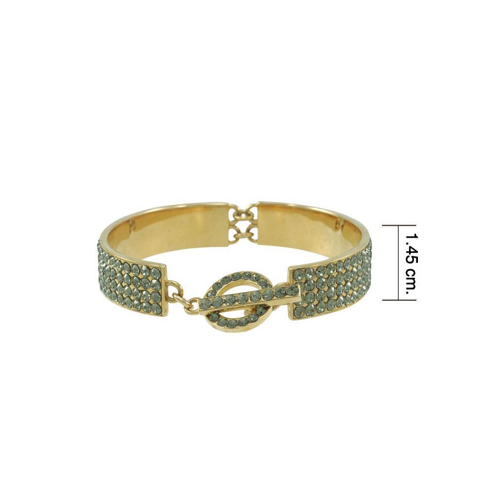 Crystal Toggle Gold Plate over Alloy Bracelet by Amy Zerner ABL246