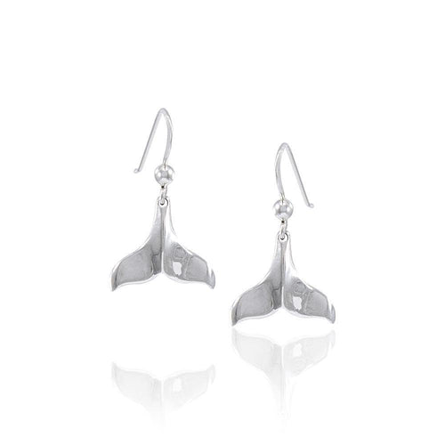 Whale Tail Silver Earrings JE005 peterstone.