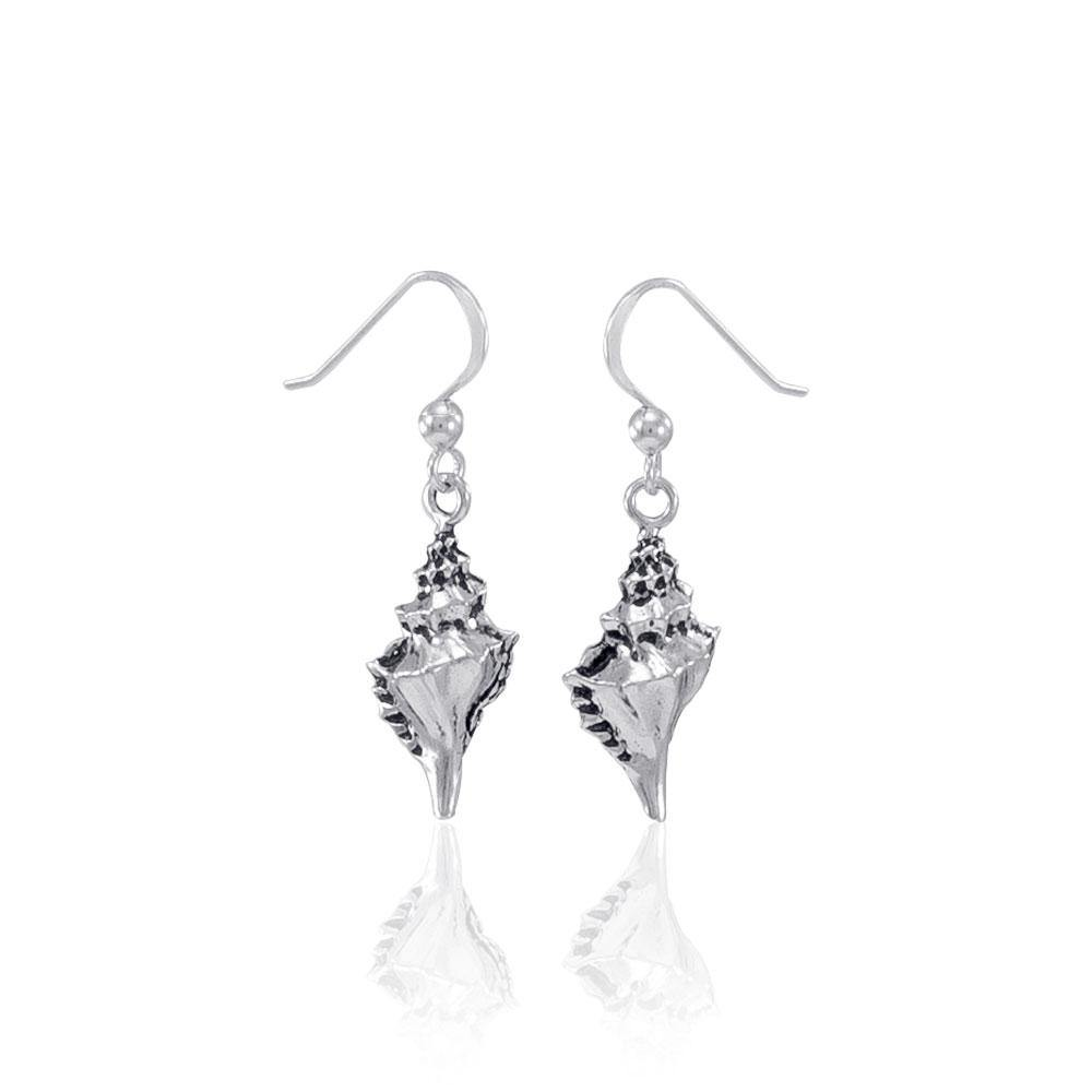 Conch Shell Silver Earrings JE035