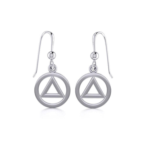 AA Symbol Silver Earrings JE058 peterstone.