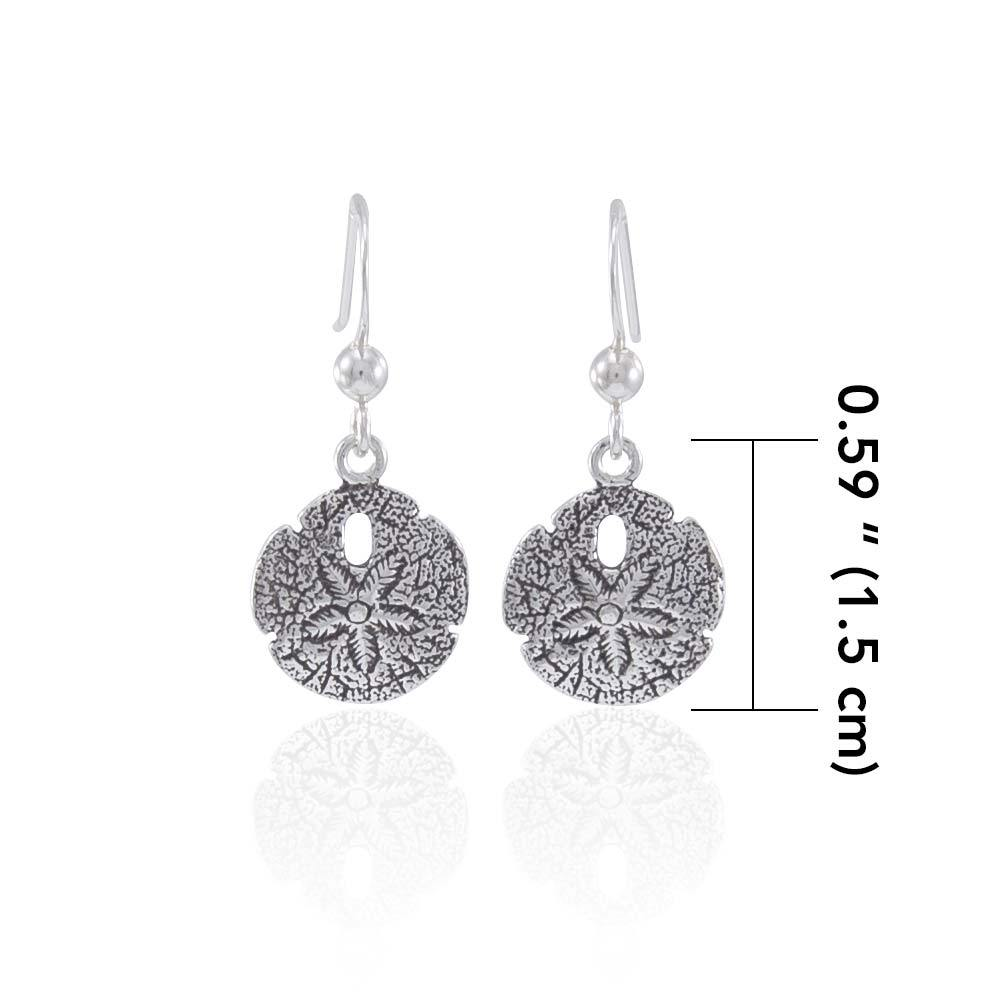 Wear your Sand Dollar of Memories ~ Sterling Silver Jewelry Hook Earrings