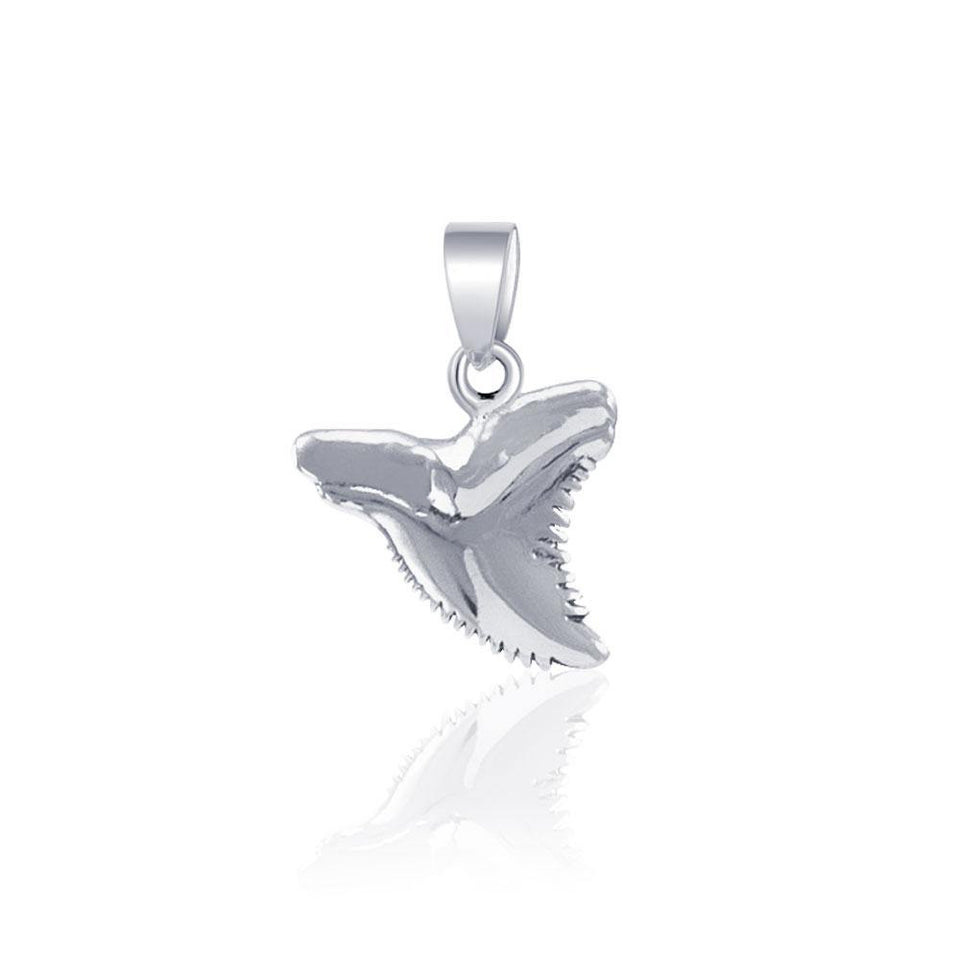 Shark Tooth Silver Pendant JP031 peterstone.