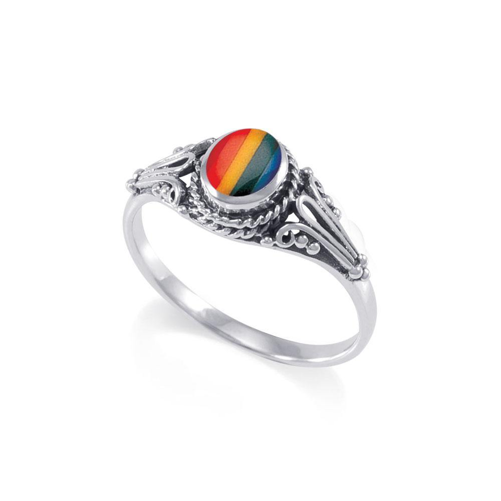 Rainbow Pride Silver Ring