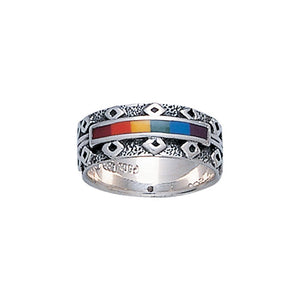 Rainbow Silver Ring JR259