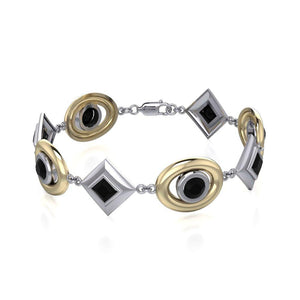 Blaque Oval & Diamonds Bracelet MBL092 peterstone.