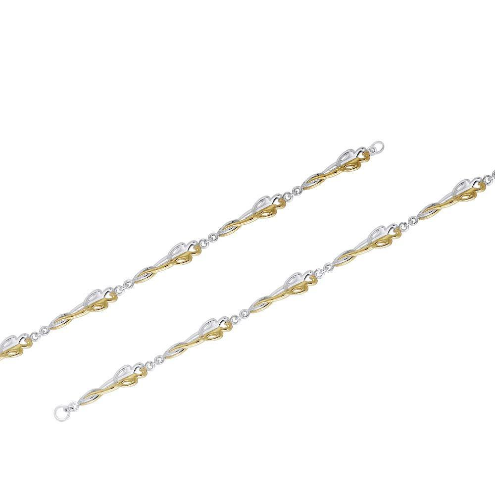 Venus and Mars Silver and Gold Bracelet MBL103