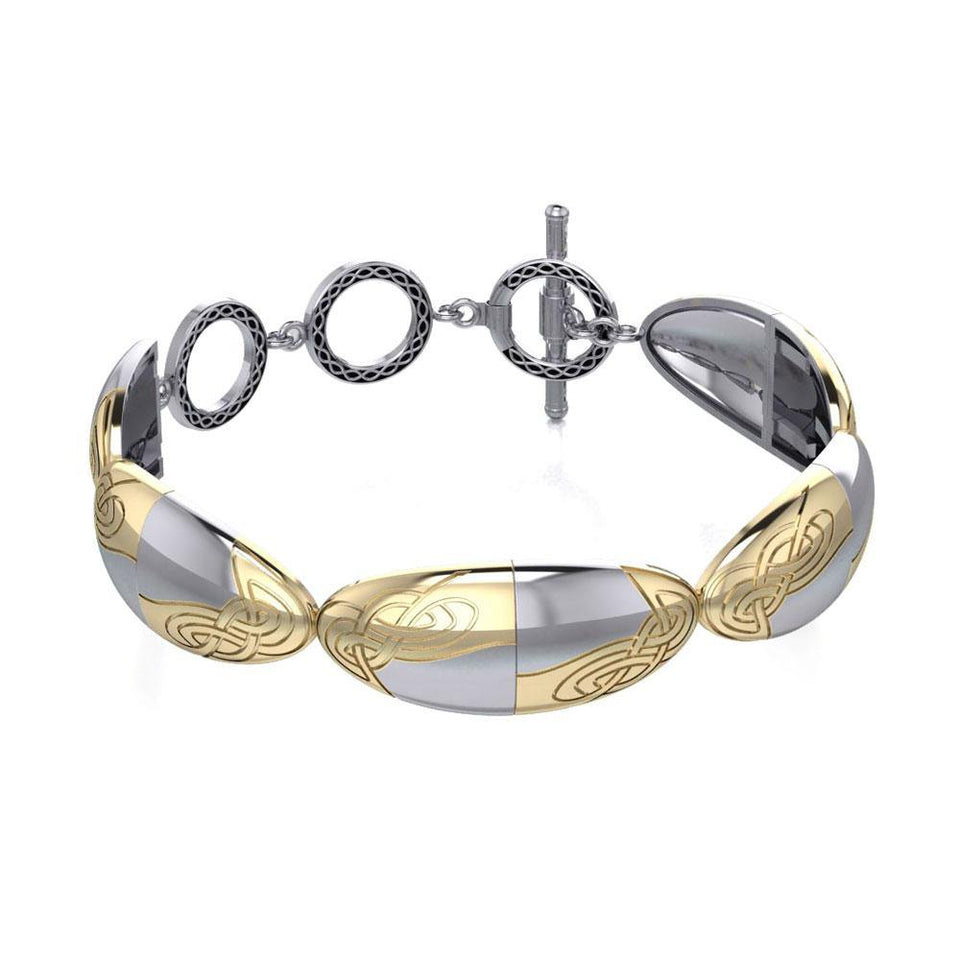 Danu Celtic Silver and Gold Bracelet MBL113 peterstone.
