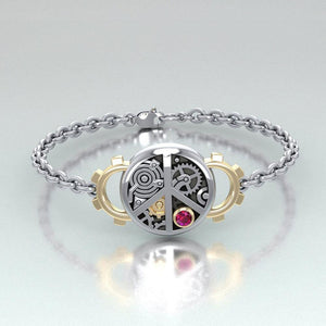 Peace Steampunk Silver and Gold Accent MBL291