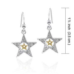 Celtic Triquetra The Star Earrings MER1571 peterstone.