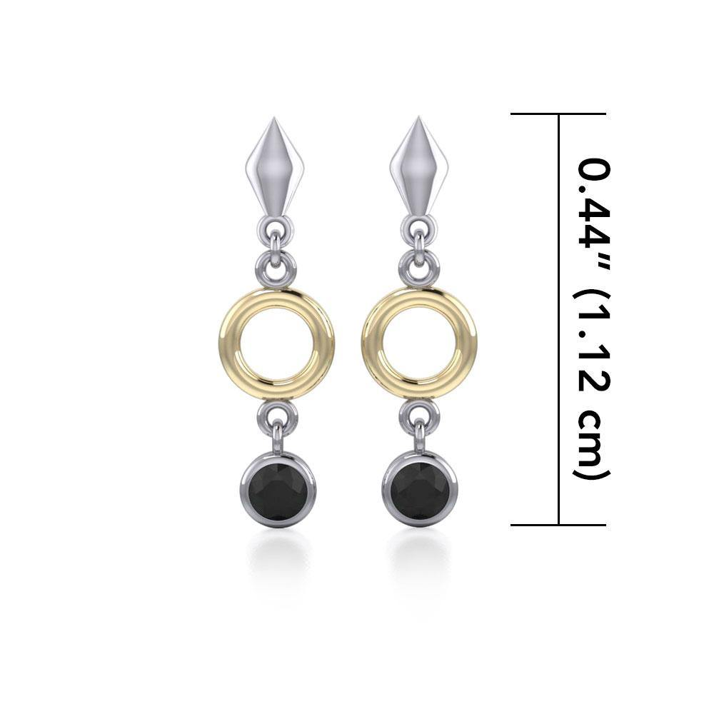 Blaque Circle Black Spinel Earrings