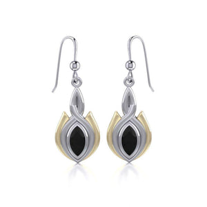 Blaque Oval Twist Earrings MER388 peterstone.