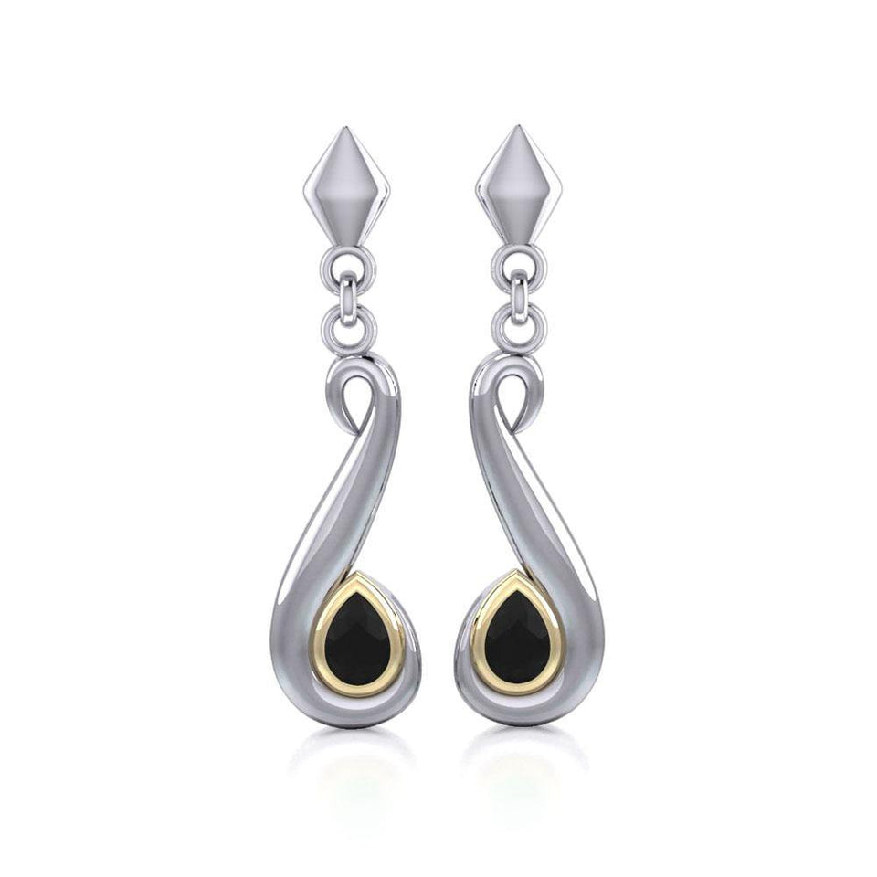 Blaque Swirl Earrings MER404