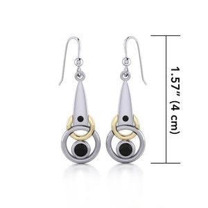 Blaque Interlocking Circles Earrings MER410 peterstone.