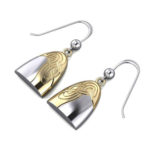 Danu Silver and Gold Celtic Knotwork Earrings MER549
