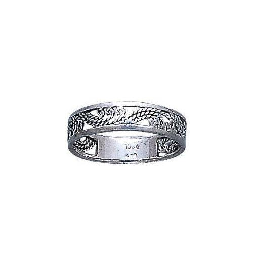 Open Twist Silver Ring MG014