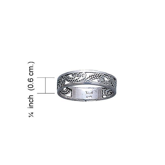 Open Twist Silver Ring