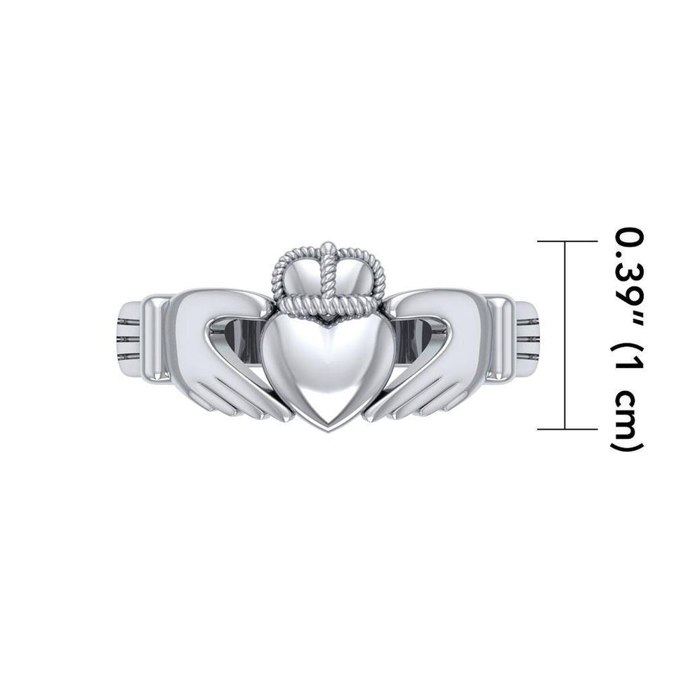 Irish Claddagh Silver Ring MG058R