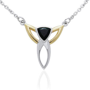 Blaque Triangle Necklace MNC096 peterstone.