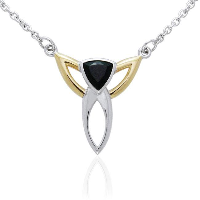 Blaque Triangle Necklace MNC096