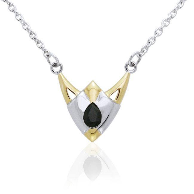 Blaque Triangle Necklace MNC097