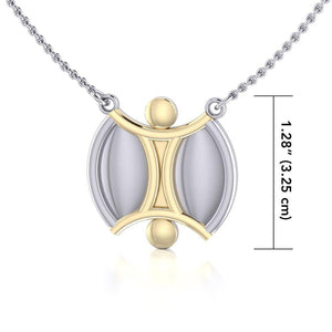 We Are All One Silver and Gold Necklace MNC158 peterstone.