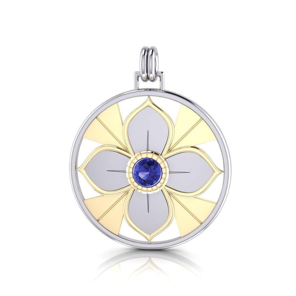 Symbol Of Femininity Silver and Gold Pendant by Sibylle Grummes Unruh MPD1240 peterstone.