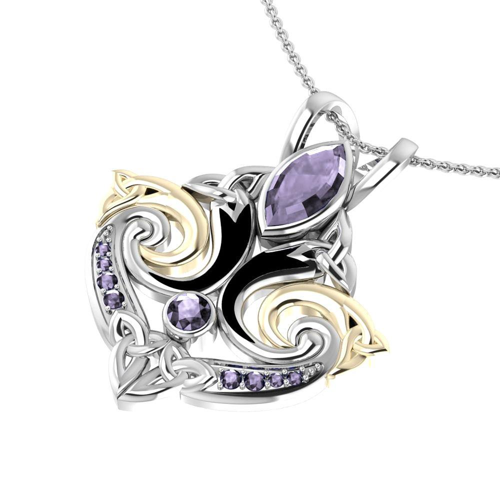 Look beyond your life's endless journey Triskele Pendant