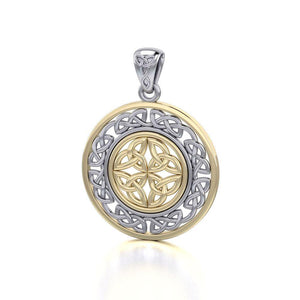 Celtic Knotwork Silver and Gold Pendant MPD3035