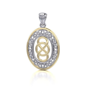 Celtic Knotwork Silver and Gold Pendant MPD4133 peterstone.
