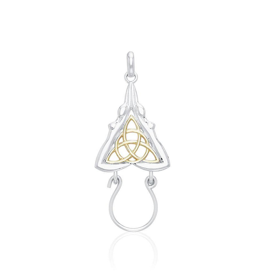 Goddess Silver and Gold Charm Holder Pendant MPD5086 peterstone.