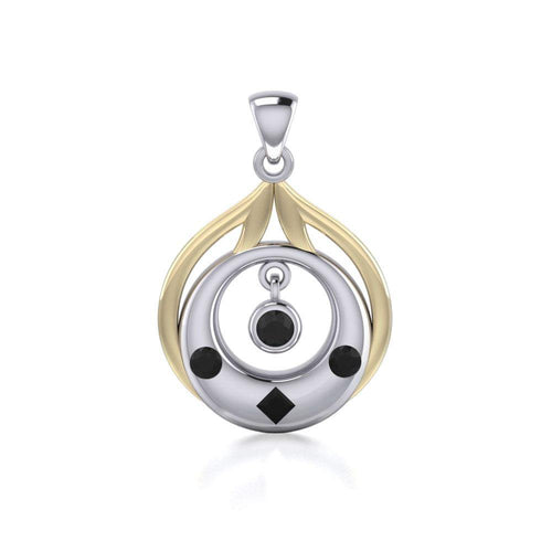 Blaque Circles Pendant MPD814 peterstone.