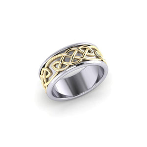 Celtic Knotwork Silver and Gold Ring MRI1205 peterstone.