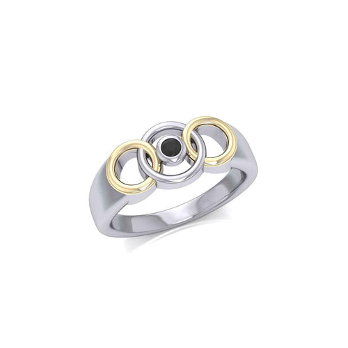 Blaque Interlocking Circles Ring MRI461 peterstone.