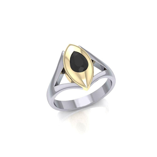 Blaque Teardrop Solitare Ring MRI482 peterstone.