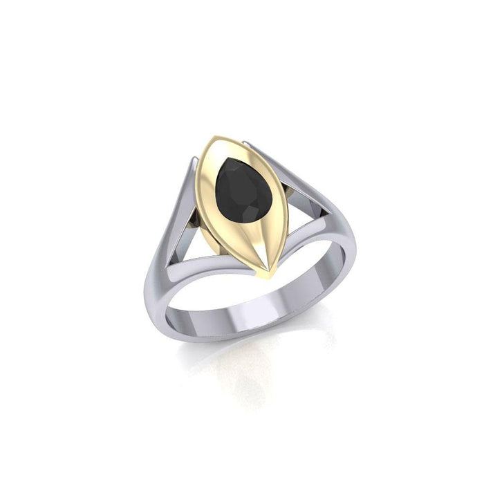 Blaque Teardrop Solitare Ring MRI482