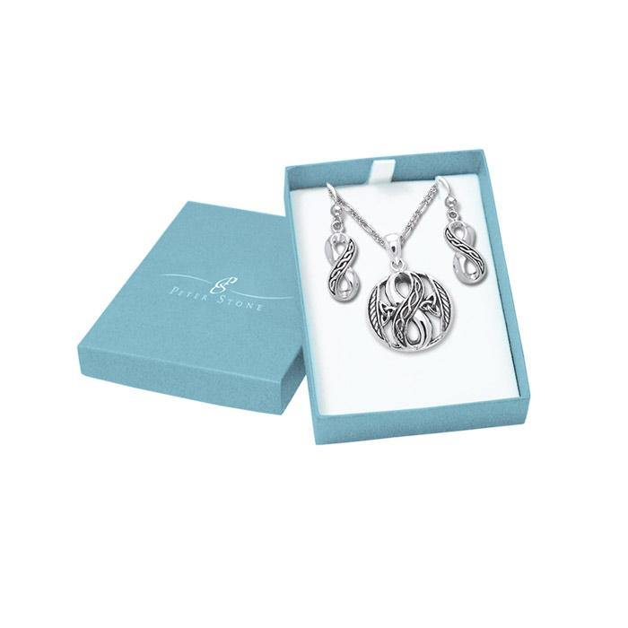 Celtic Infinity Jewelry Set with Gift Box SET001 peterstone.