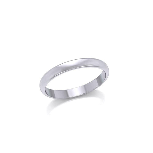 Smooth Band Thin Ring SM149 peterstone.