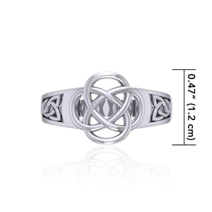 Celtic Knotwork Silver Ring SM230 peterstone.