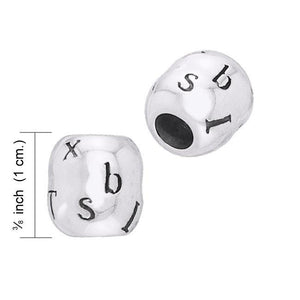 Round Letter Silver Beads TBD020