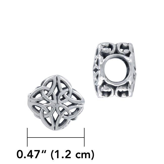 Celtic Knotwork Sterling Silver Bead TBD184