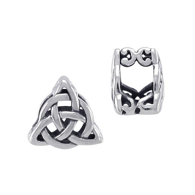 Celtic Knotwork Triquetra Sterling Silver Bead TBD185 peterstone.