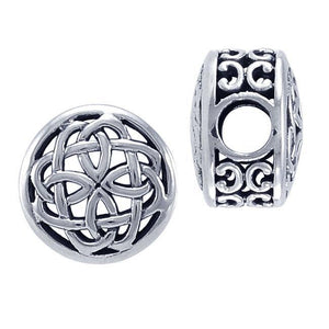 Celtic Knotwork Sterling Silver Bead TBD188 peterstone.