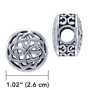 Celtic Knotwork Sterling Silver Bead TBD188