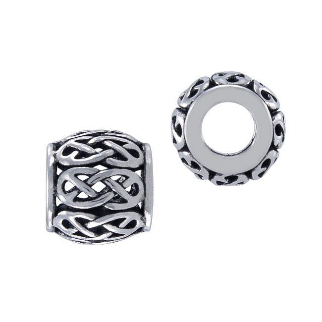 Celtic Knotwork Infinity Sterling Silver Bead