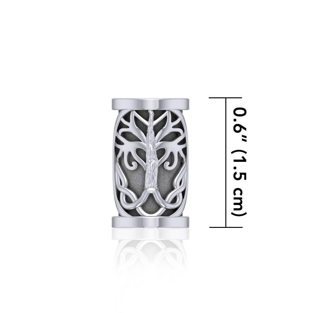 Tree of Life Silver Bead TBD357