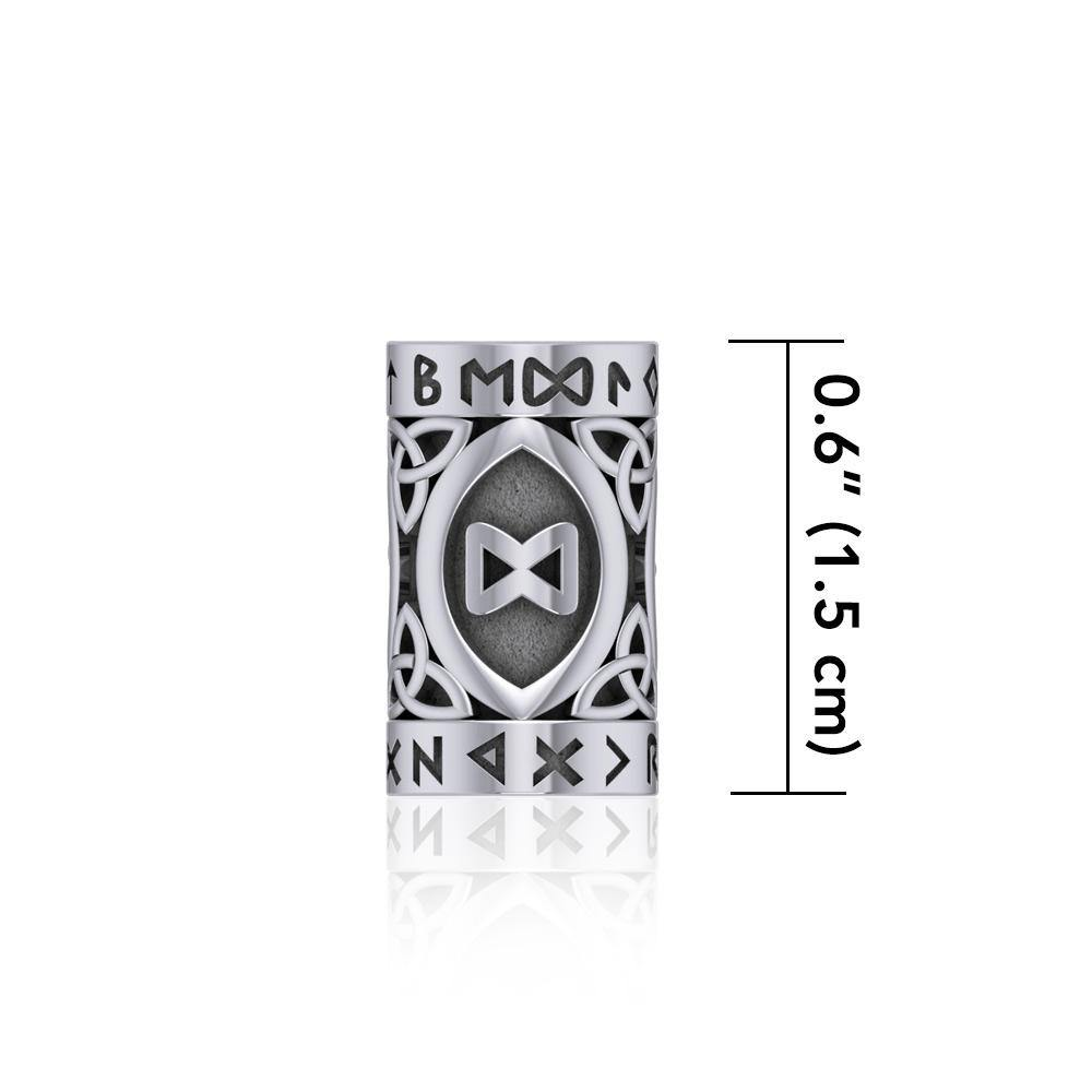 Intuition Rune Symbol Silver Bead TBD360