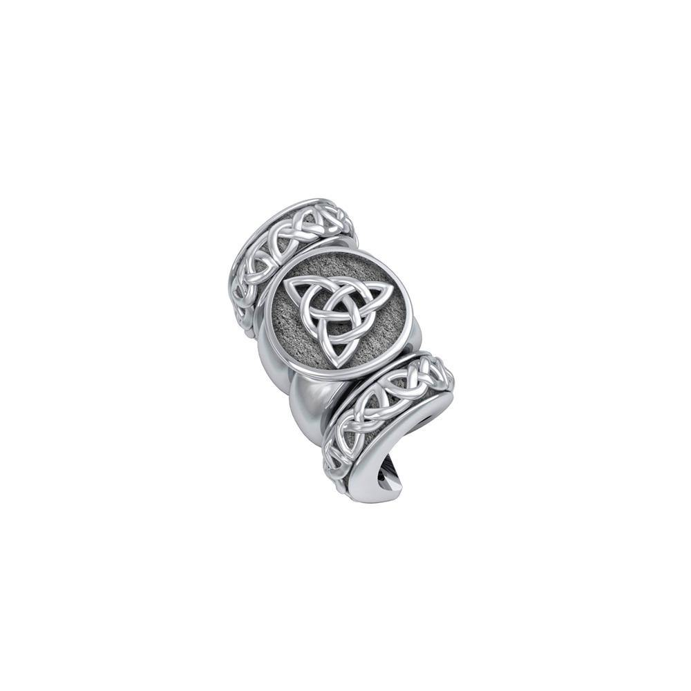 Triquetra with Celtic Accented Silver Bead TBD363